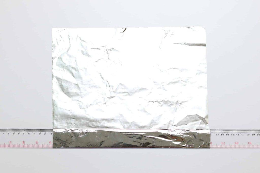 Ruler with foil folder over to make a DIY egg ring