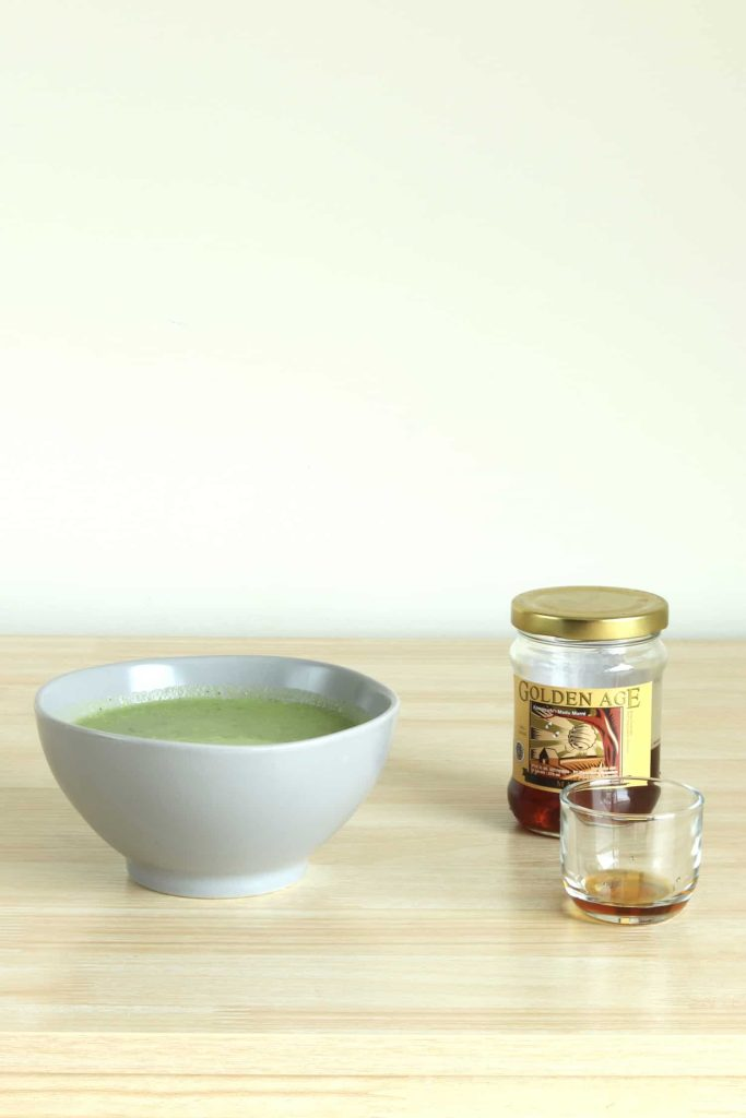 Soup with honey added