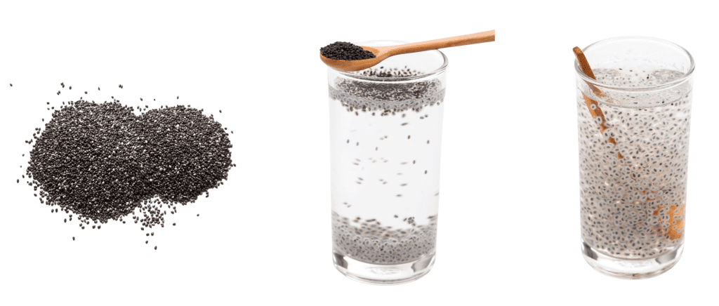 chia seeds turning gel-like when placed in water